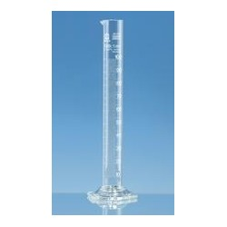 Cylinder miarowy 50 ml boro 3.3 forma wysoka klasa B biała