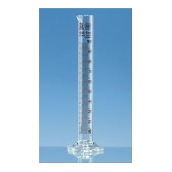 Measuring cylinder 100 ml Boro 3.3 tall form class B brown