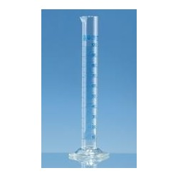 Messzylinder 250:2 ml Klasse A hohe Form Boro 3.3 KB blau