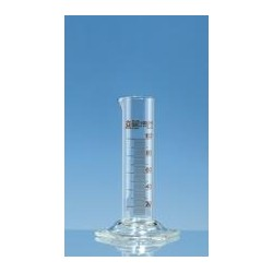 Measuring cylinder 25 ml Boro 3.3 class B low form amber