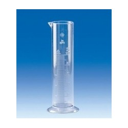 Messzylinder 50 ml SAN Klasse B niedere Form glasklar erhabene