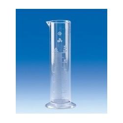 Cylinder miarowy SAN 100 ml forma niska skala wytłoczona