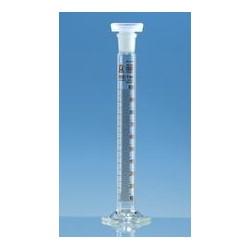 Cylinder miarowy z korkiem PP kl. B 10 ml boro 3.3 szlif NS