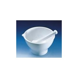 Mortar with pestles MF white foot spout 125 x 80 mm