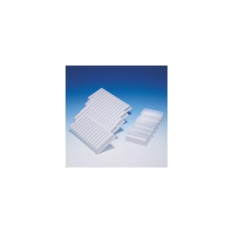 12-Slide holder Polystyserne for slides 76x26 mm B 86 xL 178xH