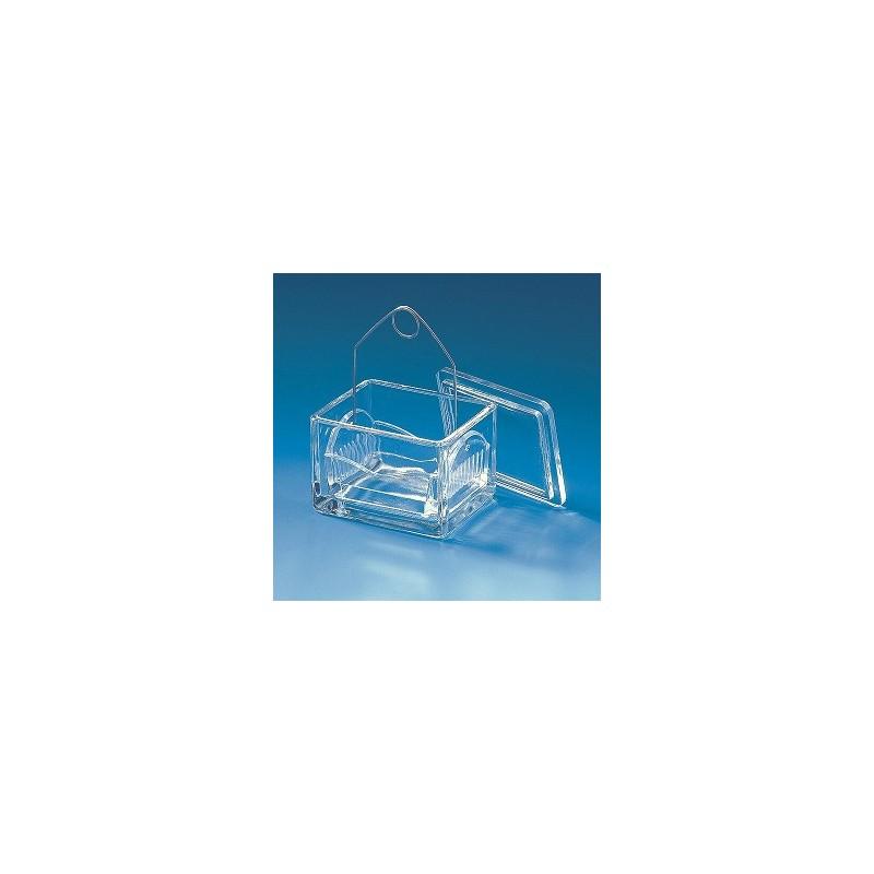 Färbetrog Natron-Kalk-Glas mit Deckel 105x85x70 mm VE 10 Stck.