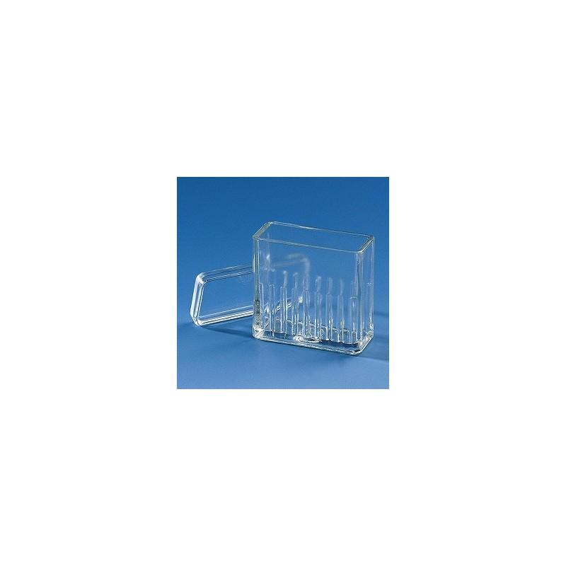 Pojemnik do farbowania preparatów typ Hellendahl szkło sodowe