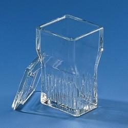 Färbetrog Typ Hellendahl mit Erweiterung Natron-Kalk-Glas für