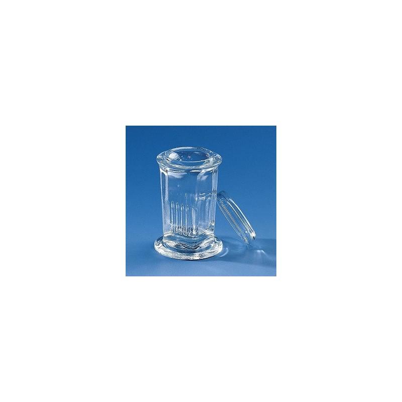 Färbetrog Typ Coplin rund Natron-Kalk-Glas für 10 Objektträger