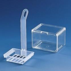 Färbetrog PMP glasklar 101x 83x70 mm ohne Einsatz mit 2 Deckeln