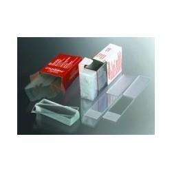 Microscope slides cut edges 76x26x1 mm no marking area pack50