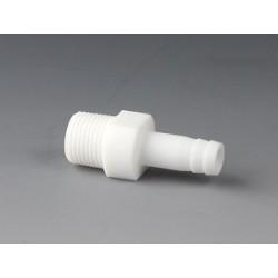 "Screw-In Tubing Connector PTFE NPT 1/4"" Ø 6,8 mm"
