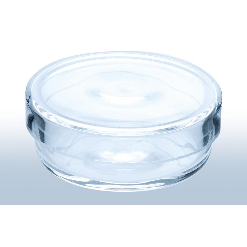 Petrischale Quarzglas ØxH./mm 25x6 Oberschale Rand geschliffen