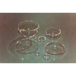Petri dish quartz glass ØxH./mm 100x12 front cover edge honed