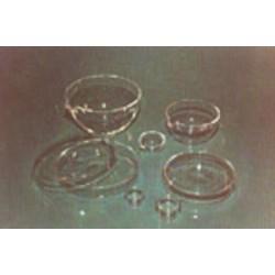 Petrischale Quarzglas ØxH./mm 100x12 Oberschale Rand