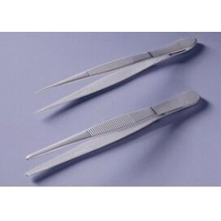 Tweezers teflon coated straight pointed lenght 115 mm