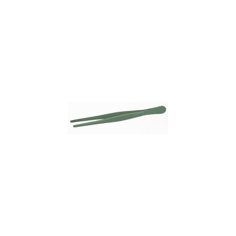 Tweezers teflon coated straight blunt lenght 145 mm