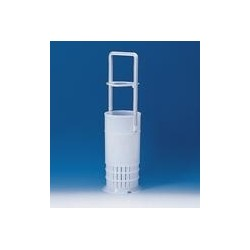 Pipette basket PE-HD with handle for pipettes up to 460 mm