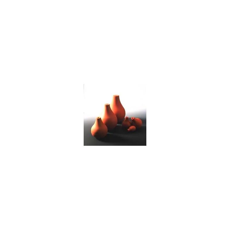 Birne glatt PVC rotbraun mit Bohrung Ø 6 mm Gr. 0 Inhalt 8 ccm