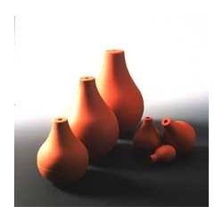 Birne glatt PVC rotbraun mit Bohrung Ø 6 mm Gr. 5 Inhalt 89 ccm