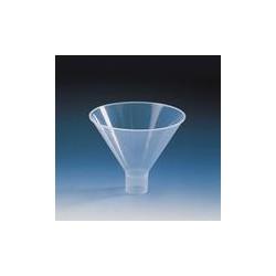 Powder funnel PP short wide stem funnel outer Ø100 mm stem