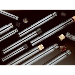 Test tube soda glass flat bottom Alu-screw cap 17x145 mm pack
