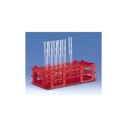 Test tube rack PP red for 32 tubes up to Ø 25 mm