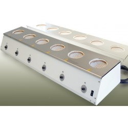 Reihenheizgerät für Rundkolben 6x100 ml 450°C 6x110W 230V 1