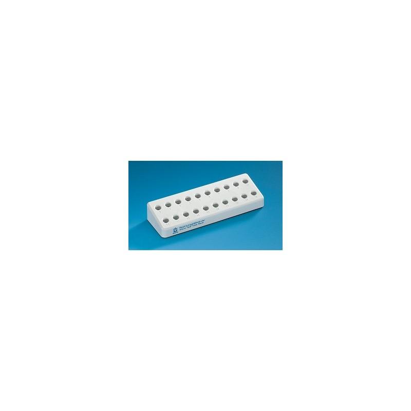 Microcentrifuge tube rack PP for 20 tubes 1,5 ml grey