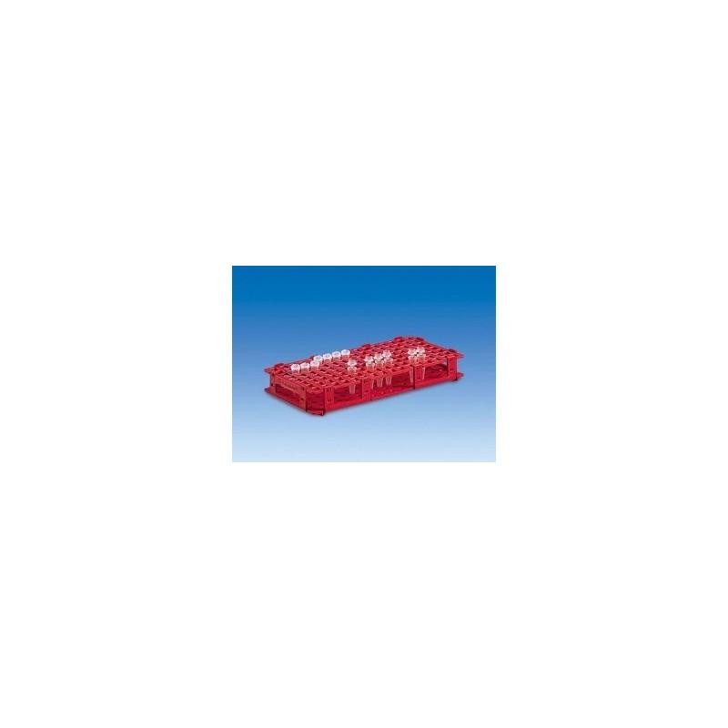 Stojak na naczynka reakcyjne PP 265x126x38 mm na 128 naczynek o