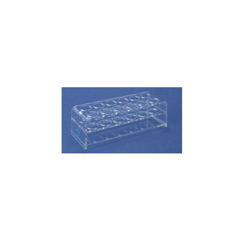 Stand for test tubes transparent polyacryl for 12x2 tubes hole