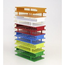 Test tube stand 24xØ30 mm Resmer® LxWxH 283x108x83 red -70…+121