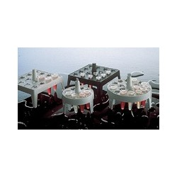 Reaktionsgefäßständer PP für Gefäße 1/1,5/2 ml Stellplätze 4x4