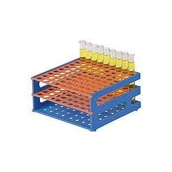 Test tube rack PP (L x W x H) 146 x 146 x 70 mm for 16 mm tubes