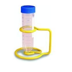 Drahtgestell mit Epoxy-Beschichtung für 1 x 50 ml Röhrchen gelb