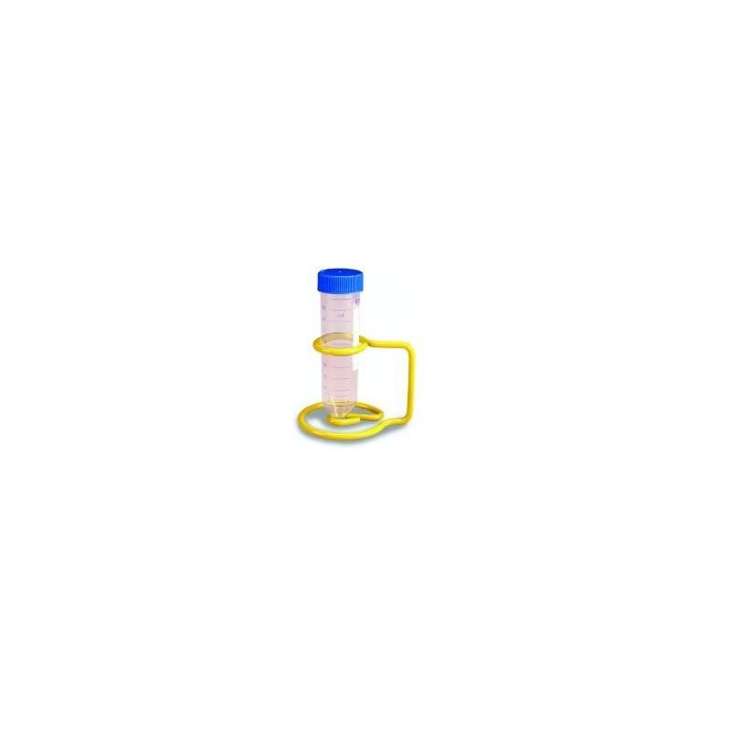 Epoxy-Coated Wire Rack for 1 x 50 ml tube yellow