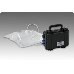 Mobile gas sampling system for gas sampling bags