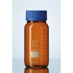Reagent bottle 2000 ml wide neck Duran amber srew cap GLS80 blue