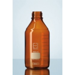 Reagent bottle 100 ml Duran amber without srew cap GL45 pack 10