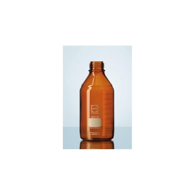 Laborflasche 1000 ml Duran braun ohne Schraubkappe GL45 VE 10