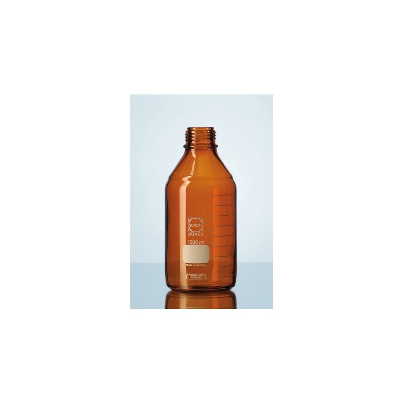 Reagent bottle 1000 ml Duran amber without srew cap GL45 pack