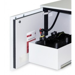 Stationary waste disposal system for collecting solvent 2x10 l