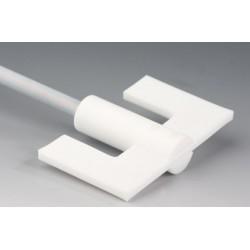Mieszadło kotwicowe PTFE długość 1000 mm Ø 10 mm Ø 100x60 mm