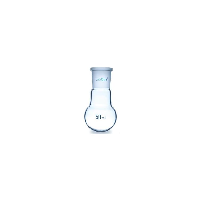 Kolba okrągłodenna 2000 ml szkło kwarcowe szerokoszyjna brzeg