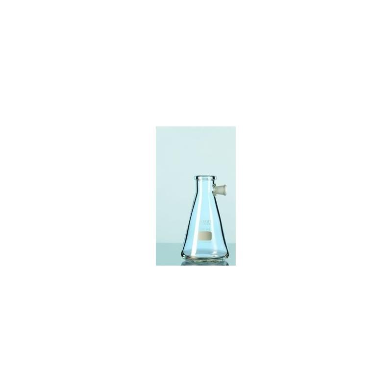 Saugflasche Duran 500 ml mit Seitentubus Erlenmeyerform