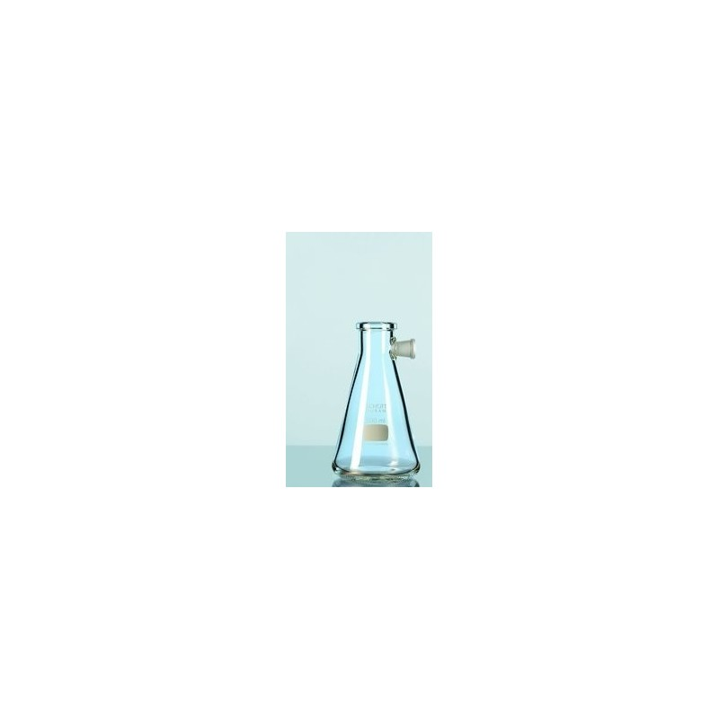 Filtering flask Duran 1000 ml with side-arm socket Erlenmeyer