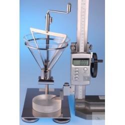 Apparatur zur Bestimmung des Schüttwinkels nach DIN ISO 4324