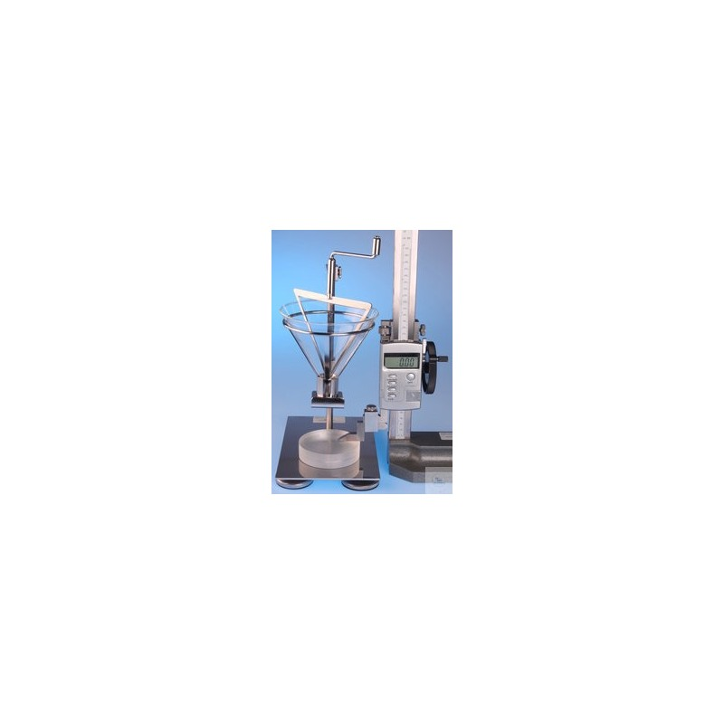 Apparatus for determination of the angle of repose DIN EN ISO