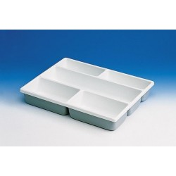 Drawer tray PVC 12 storage compartments 87 x 87 mm (inside) for