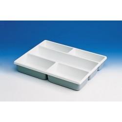 Wkład do szuflady na małe przedmioty PCV 12 przegródek o